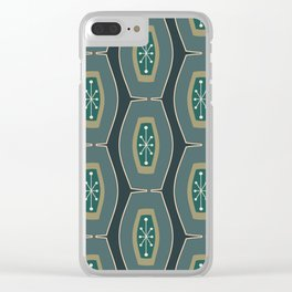 Midcentury Funky Chain Pattern Seaweed Clear iPhone Case