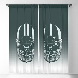 Final Touchdown - FADED CERULEAN Blackout Curtain