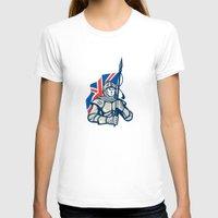 british flag T-shirts featuring Knight British Flag Retro by patrimonio