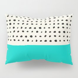 Aqua x Dots Pillow Sham