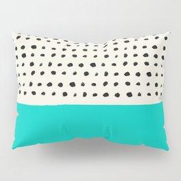 Aqua x Dots Pillow Sham