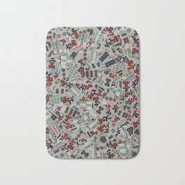 Mahjong Tiles Bath Mat