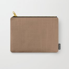 Plain Cinnamon Color from SimplyDesignArt's Limited Palette  Carry-All Pouch