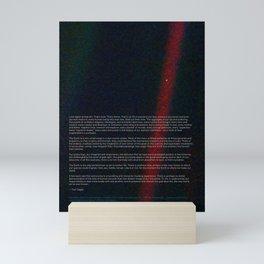 Pale Blue Dot - Voyager 1 & Carl Sagan quote Mini Art Print