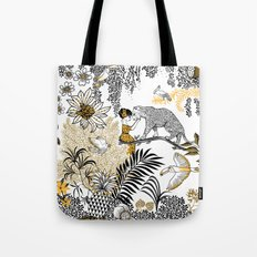 Woman with a cheetah - Peggy nille Tote Bag