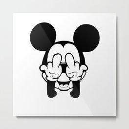 Mickey F**k Metal Print