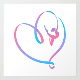 Rhythm of a Gymnast's Heart Art Print