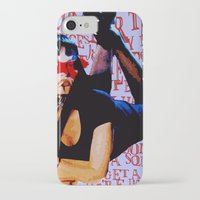 mia wallace iPhone & iPod Cases featuring Mia Wallace by Ashley