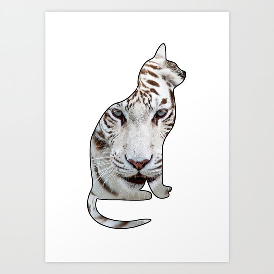 WHITE CATS Art Print