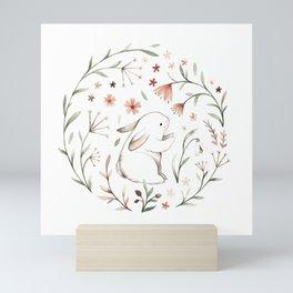 Watercolor Bunny Mini Art Print