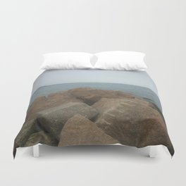 the Rocks at Oyster Bay Duvet Cover