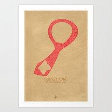 Donkey Kong Typography Art Print