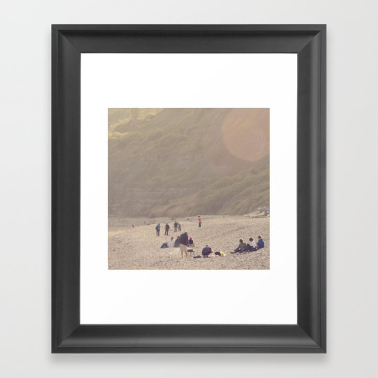 sandy sausages by the sea shore... Framed Art Print