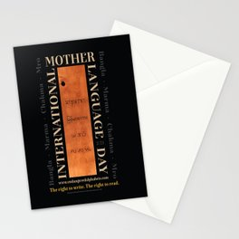 International Mother Language Day poster Stationery Cards
