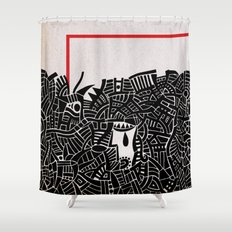 - migrants - Shower Curtain