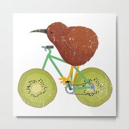 Kiwi Bike Gift Metal Print