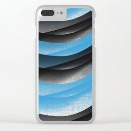 Black Blue Clear iPhone Case