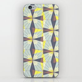 It's complicated. Bold geometric pattern in marsala, yellow and charcoal. iPhone Skin