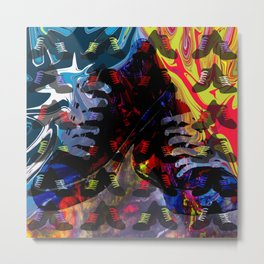 Crazy for Shoes Metal Print