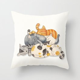 Cat Nap (Siesta Time) Throw Pillow