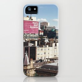 Glasgow with a view iPhone Case