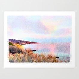 Palos Verdes Pastel Art Print