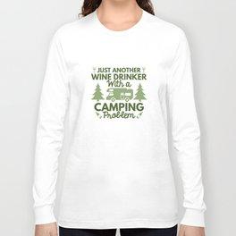 Wine Drinker Camping Long Sleeve T-shirt