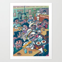 India Coffee House Art Print