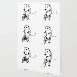 Opossums bike, too Wallpaper