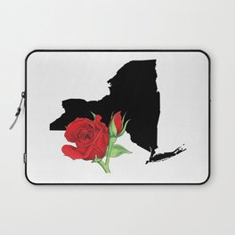 New York Silhouette and Flower Laptop Sleeve