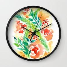 Roses & Pine Wall Clock