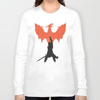 dragon age inquisition Long Sleeve T-shirts featuring Dragon Age: Inquisition V1 by FelixT