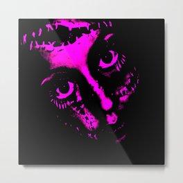 Doll Face (Pink) - Empress Horror Series Metal Print