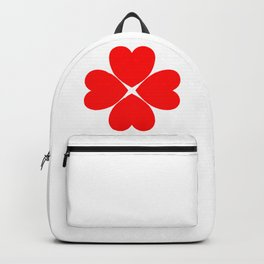 Four Leaf Loveheart Clover Backpack
