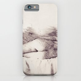 Lying on the bed. Nude studio iPhone Case