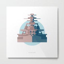 Battleship Bismark Metal Print
