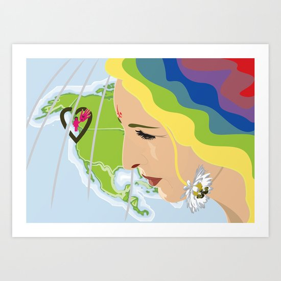 your mama loves you, no matter where you are Art Print