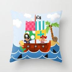 PIRATE SHIP (AQUATIC VEHICLES) Throw Pillow