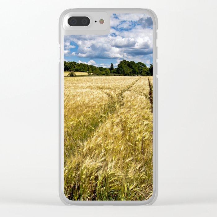Golden wheat field poetry Clear iPhone Case