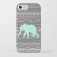 mint iPhone & iPod Cases featuring Mint Elephant  by Sunkissed Laughter