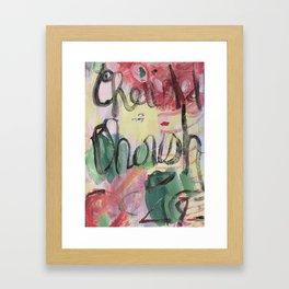Cherish, Dreams and Affirmations Series Framed Art Print
