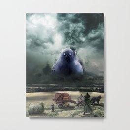 "Snufkin fighting the Groke from mumin universe ""Hope springs eternal"" Metal Print"
