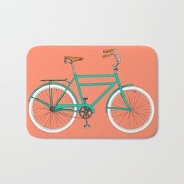 Brooklyn Cruiser - Bike print illustration Bath Mat