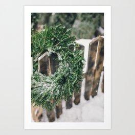 Holiday Wreath Art Print