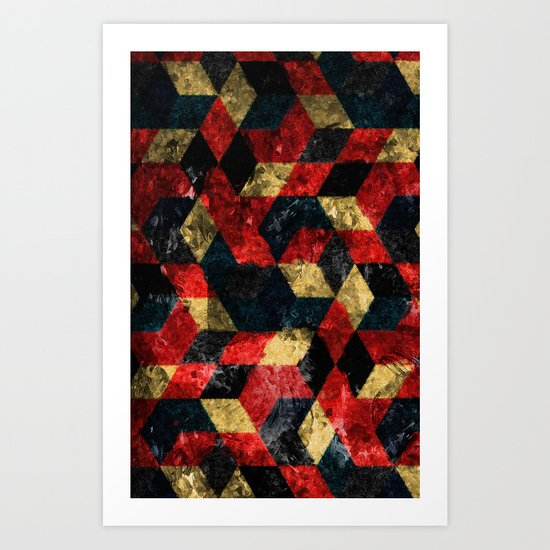 Abstract Berries Pattern Art Print