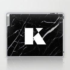 Black Marble - Alphabet K Laptop & iPad Skin