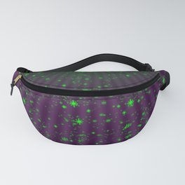 green small stars in purple Fanny Pack