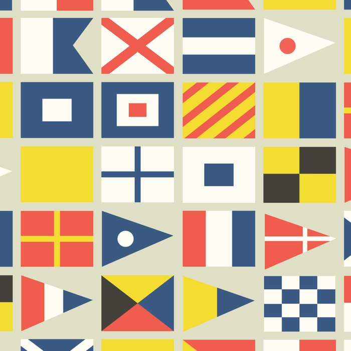 Geometric Nautical flag and pennant Leggings