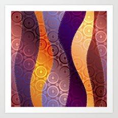 Boho Wave Pattern Art Print