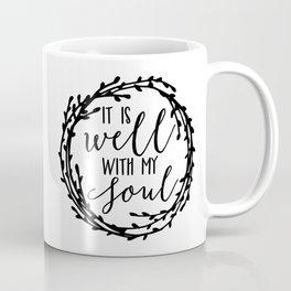 It is well with my soul wreath Coffee Mug